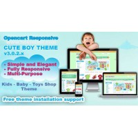 a Cute Boy & Baby Theme
